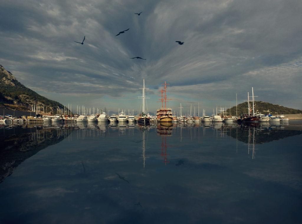 Supermoon Denemeleri Antalya Balıkçı Limanı