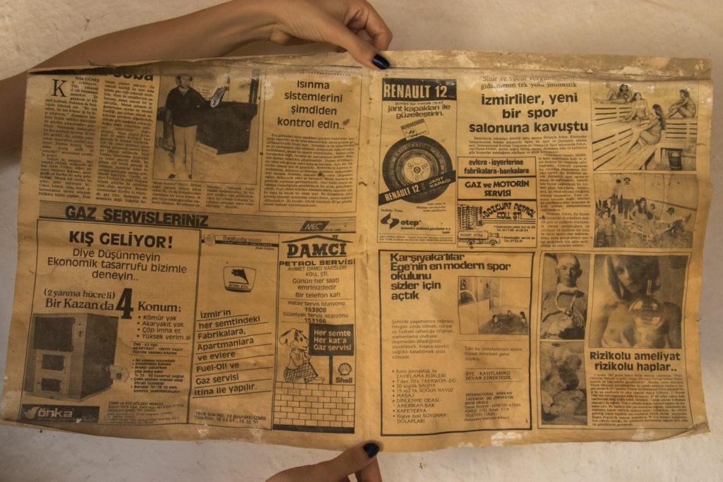 1982 Yılına ait gazete sayfası