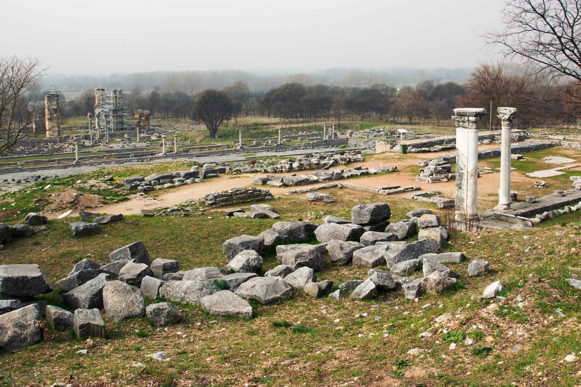 Yunanistan Gezi Rehberi Kavala Gezilecek Yerler Filippi Antik Kenti Çekergezer Hakan Aydın Fotoğrafları