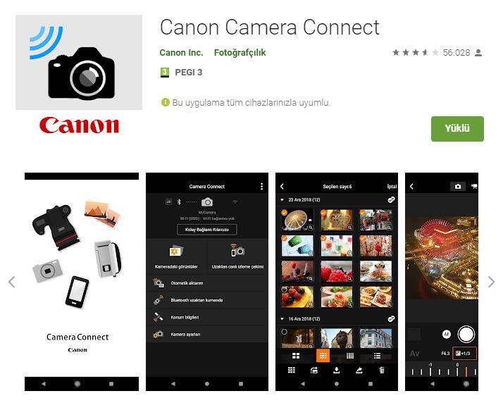 DSLR wifi Bağlantısı canon dslr wifi connection canon camera connect Çekergezer Hakan Aydın Fotoğrafları uzaktan canlı bağlantı programı anlatımı