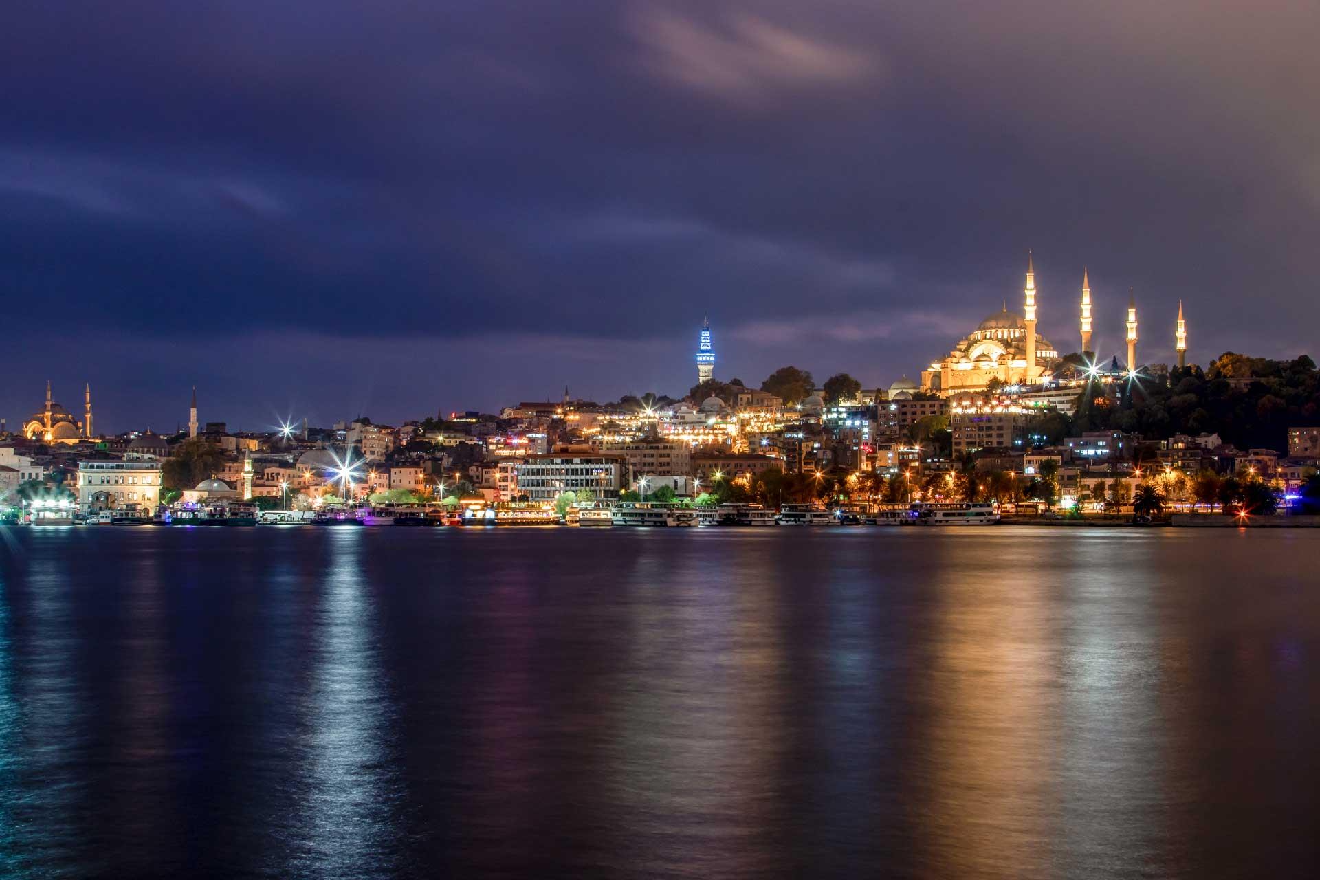 İstanbul Gece Uzun Pozlama
