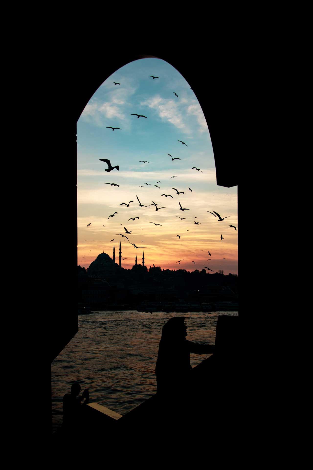 Sultanahmet Camii ve Martılar İstanbul Fotoğrafları Çekergezer Hakan Aydın Fotoğrafları www.cekergezer.com